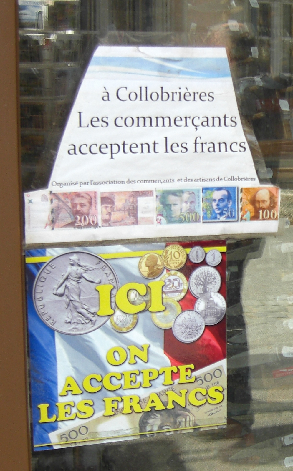 Still accepting Francs? What's that all about?
