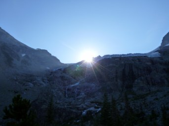 Sunrise over the glacier