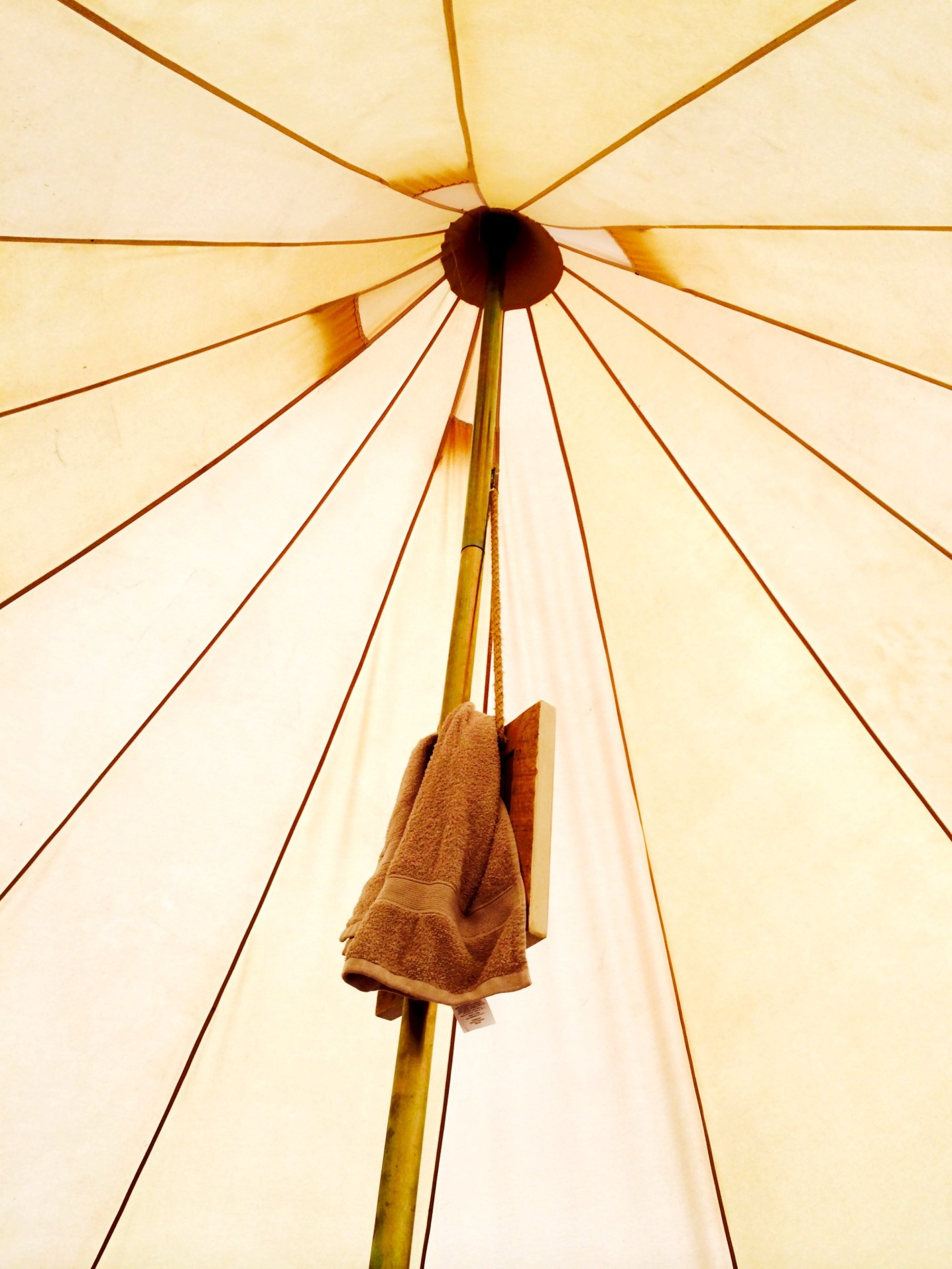 early morning tent