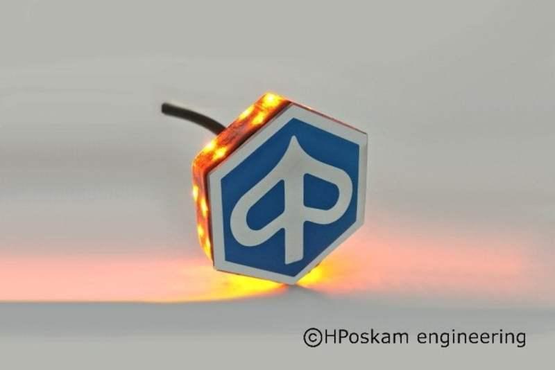 Piaggio MP3 led embleem knipperlicht