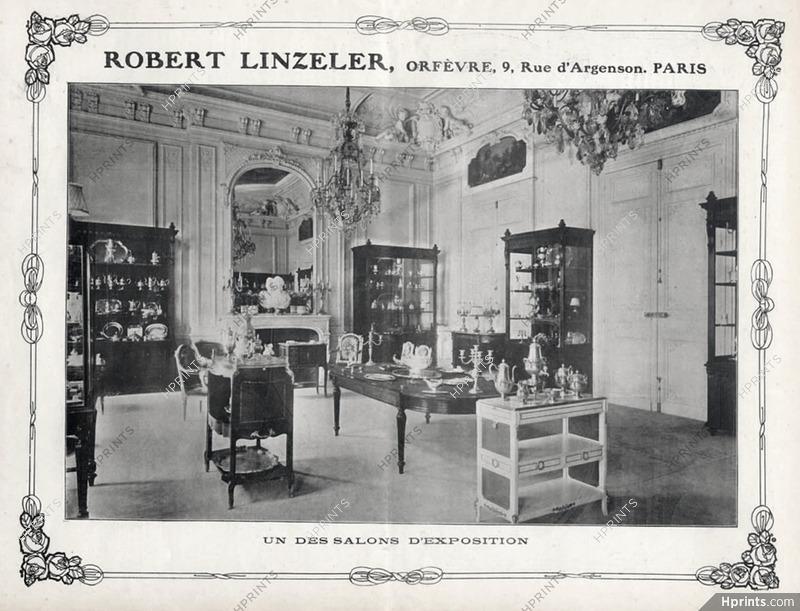 robert linzeler 1900s salon d exposition document shop window