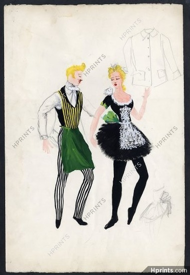 georges wakhevitch 1950 original