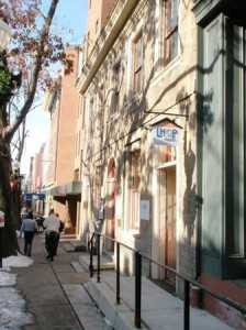121-123 East King St., the oldest building with a date stone in Lancaster, is protected by a historic preservation easement