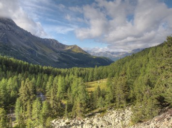 ein Blick zurück Richtung Poschiavo - auf dem Weg zum Pass da Val Viola