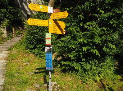 Oviga - Startpunkt der schönen Wanderung nach Brione