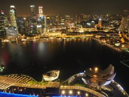 Top View vom Dach des Marina Bay Sands I