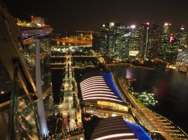 Top View vom Dach des Marina Bay Sands II