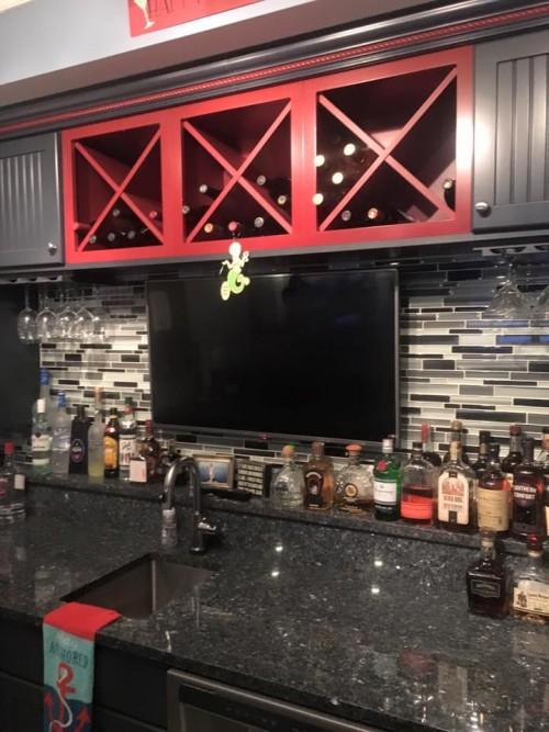 tile backsplash for custom bar hq