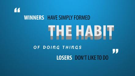 Fitness motivation blue background success wallpaper
