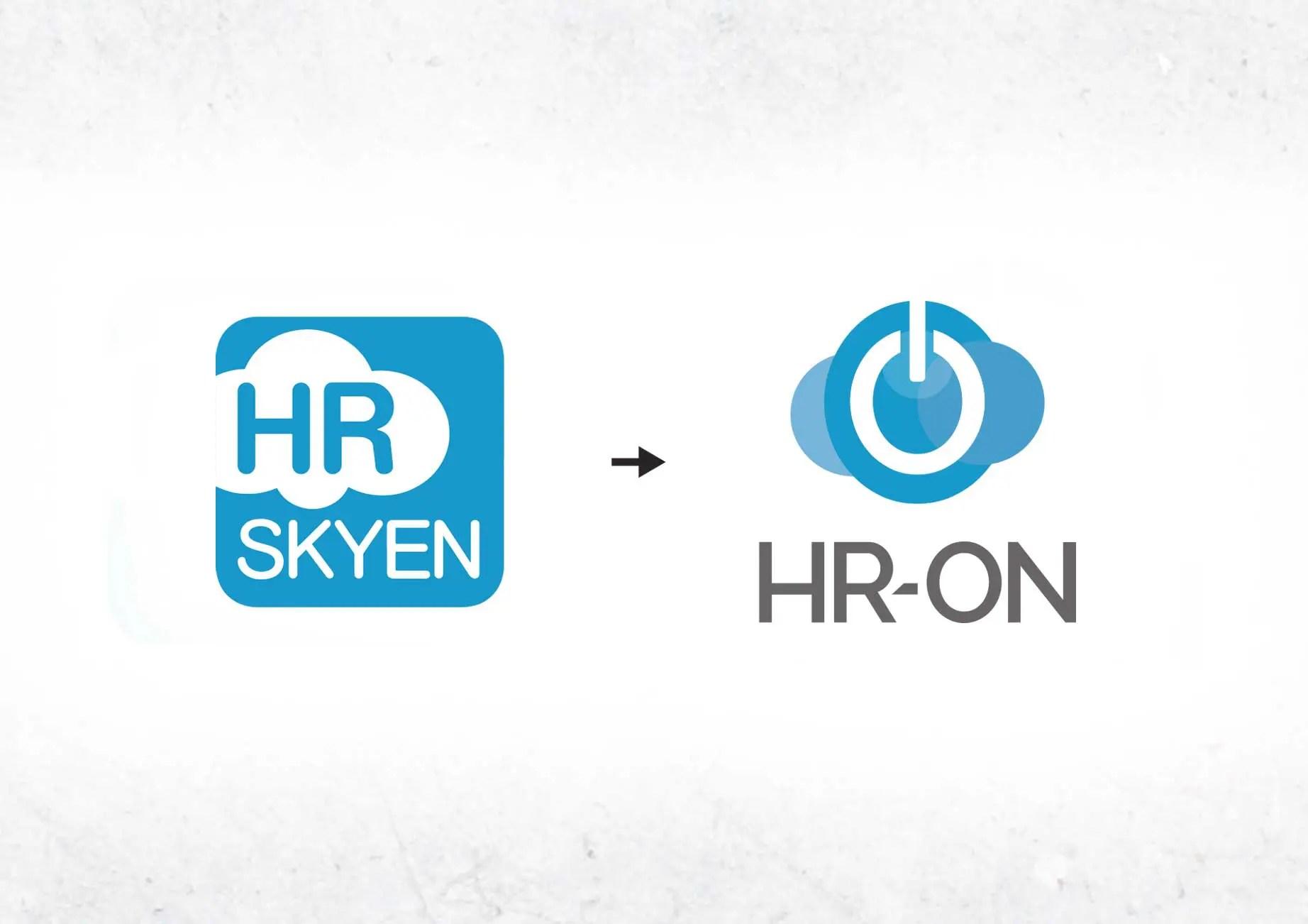 Billede af Hr-on der skifter logo og navn fra Hr-skyen og Hr-on