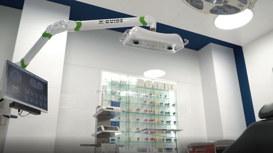 Dentists incorporate the X Guide robot for guided surgery facilitating their staff daily routine