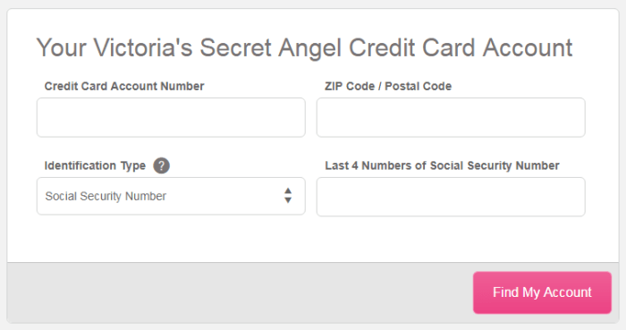 Victoria s Secret Angel Credit Card Sign In