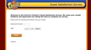 Church's Chicken Guest Satisfaction Survey