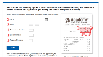 Academy Sports Outdoors Customer Satisfaction Survey