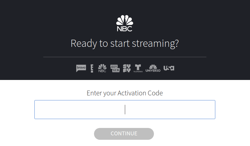 Activate NBC Online