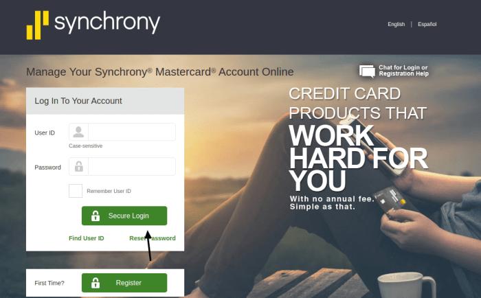 Synchrony Financial Credit Card Login
