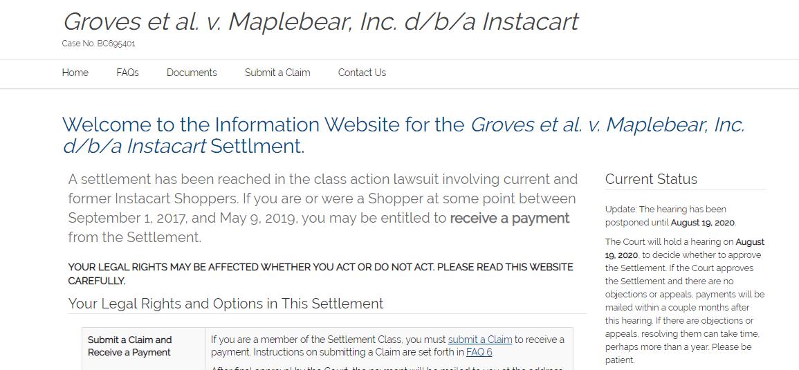 Groves Shopper Settlement
