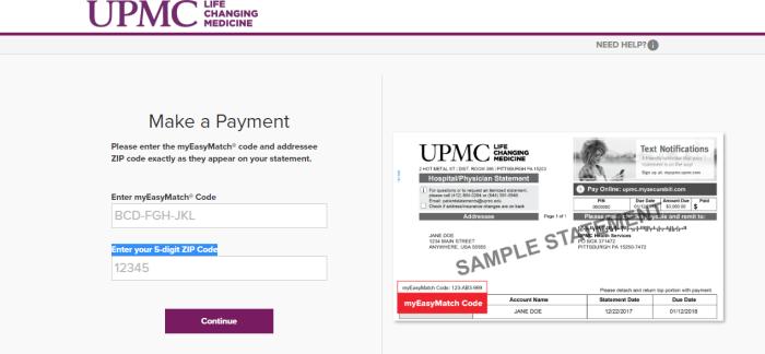 UPMC Portal Login