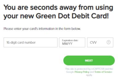 green dot card activation