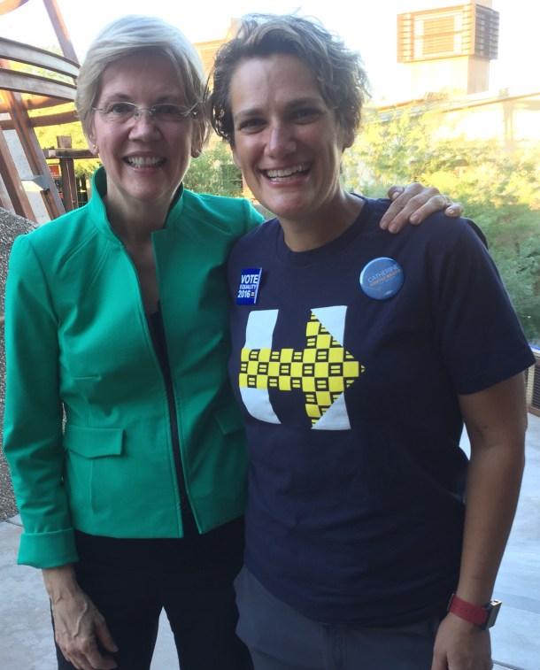 Hope Wisneski with Sen. Warren