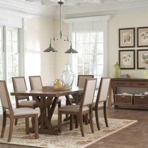 Brushed Wood Farmhouse Dinning Table