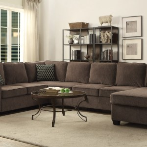 Brown Stationary Living Room Sectional