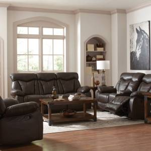 Dark Brown Motion Loveseat