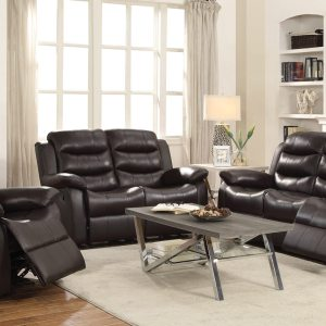 Dark Brown Motion Reclining Loveseat