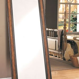Antique Tall Brown Wall Mirror