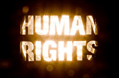 Human Rights in bright lights