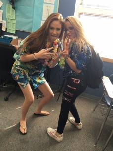 Rachel Watson, sophomore and Kayleigh Fuller, Sophomore PhotoCo: Hannah Dyer