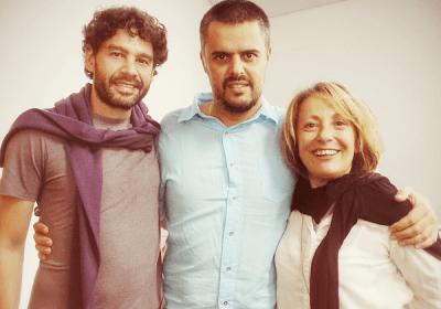 Com Pedro e Grazia Cecchini