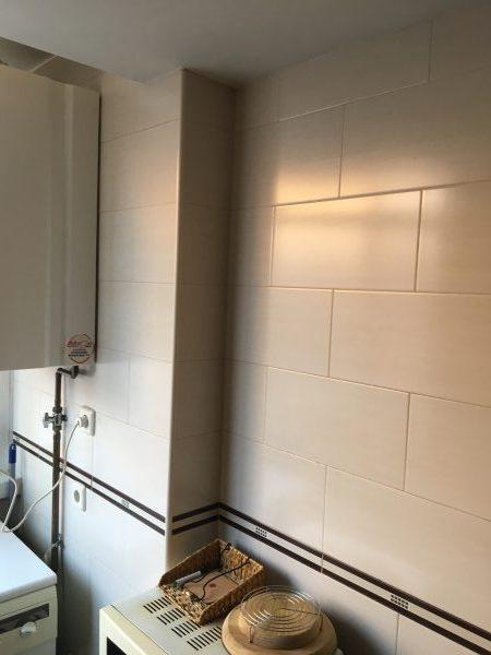 Tabique de separación cocina-salón
