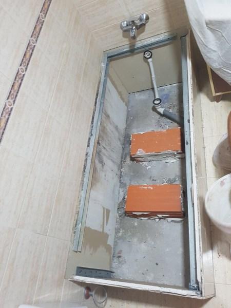 ladrillos cama bañera