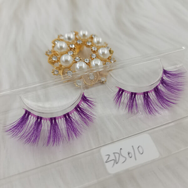 Colored lashes colorful lashes band lashes purple silk lashes beautiful lashes silk eyelashes silk lashes wholesale faux mink eyelashes vendors