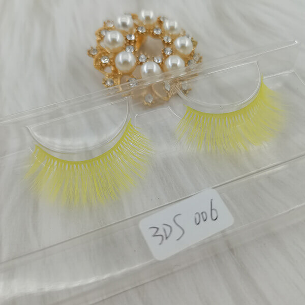 Colored lashes colorful eyelashes  yellow colored eyelashes  Wholesale False Eyelashes Wholesale Fake  Eyelashes Wholesale Vegan Faux  Mink Eyelashes Factory |Cheap Eyelashes Wholesale Strip Eyelash Suppliers Hand Made From Premium Synthetic Silk vegan faux mink eyelashes vendor