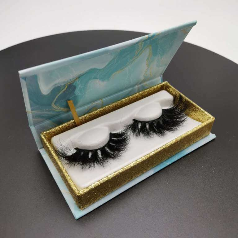 quicksand eyelash box 6D mink lashes