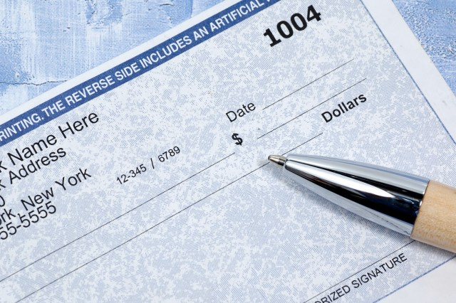 paycheck - stock