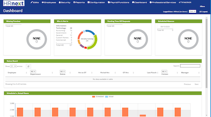 HRNext Direct Time and Attendance technology Software