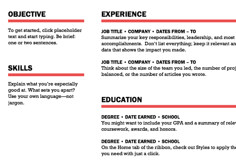 resume tips in search of a perfect resume news