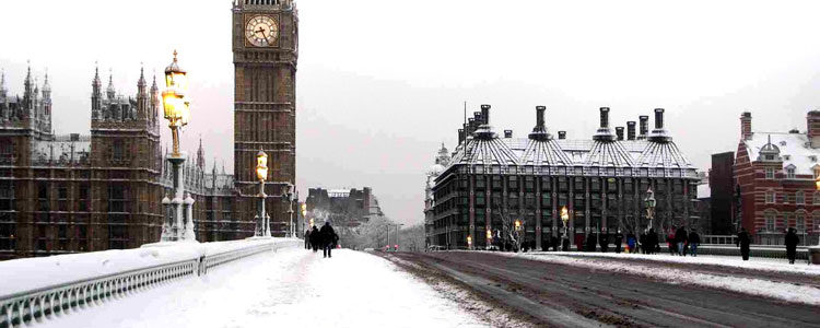 Snow on Westminster Bridge, despite the beautiful scene, the winter can start to get people down