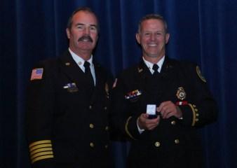 Virginia Beach Fire Chief Steve Cover, left, and Captain Glenn Burnett. Credit: City of Virginia Beach