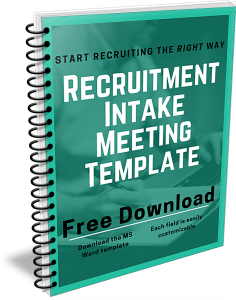 Download a free recruitment intake meeting template