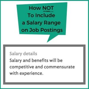 How not to include salary ranges on a job description