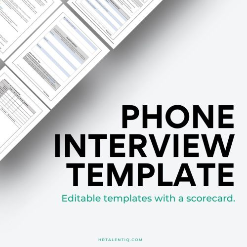 Phone Interview Template - Download in Word or Google Doc