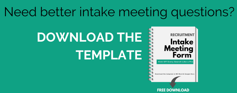 Recruitment Intake Meeting Form - Free Download