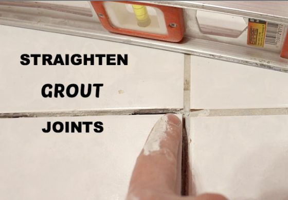 How to Replace a Cracked Tile in Bathroom in No Time Straighten Grout Joints