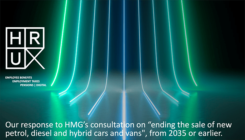 HRUX's formal response to HMG's consultation on banning petrol, diesel and hybrid cars