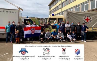 Neuer großer Hilfskonvoi für die kroatische Erdbebenregion startet am Donnerstag, den 13.05.2021 aus Stuttgart❤️