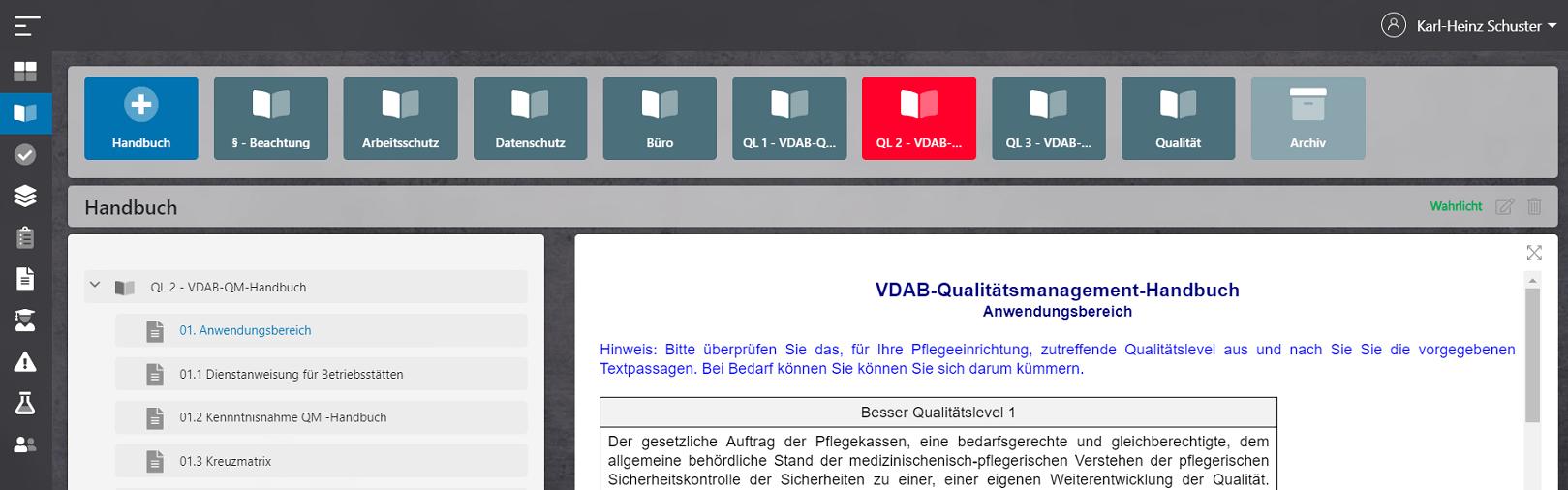 qoom care - VDAB QM-Handbuch